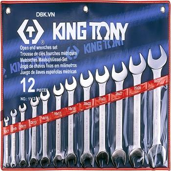 Bộ cờ lê vòng miệng 14 chi tiết 8-24mm Kingtony 1215MR